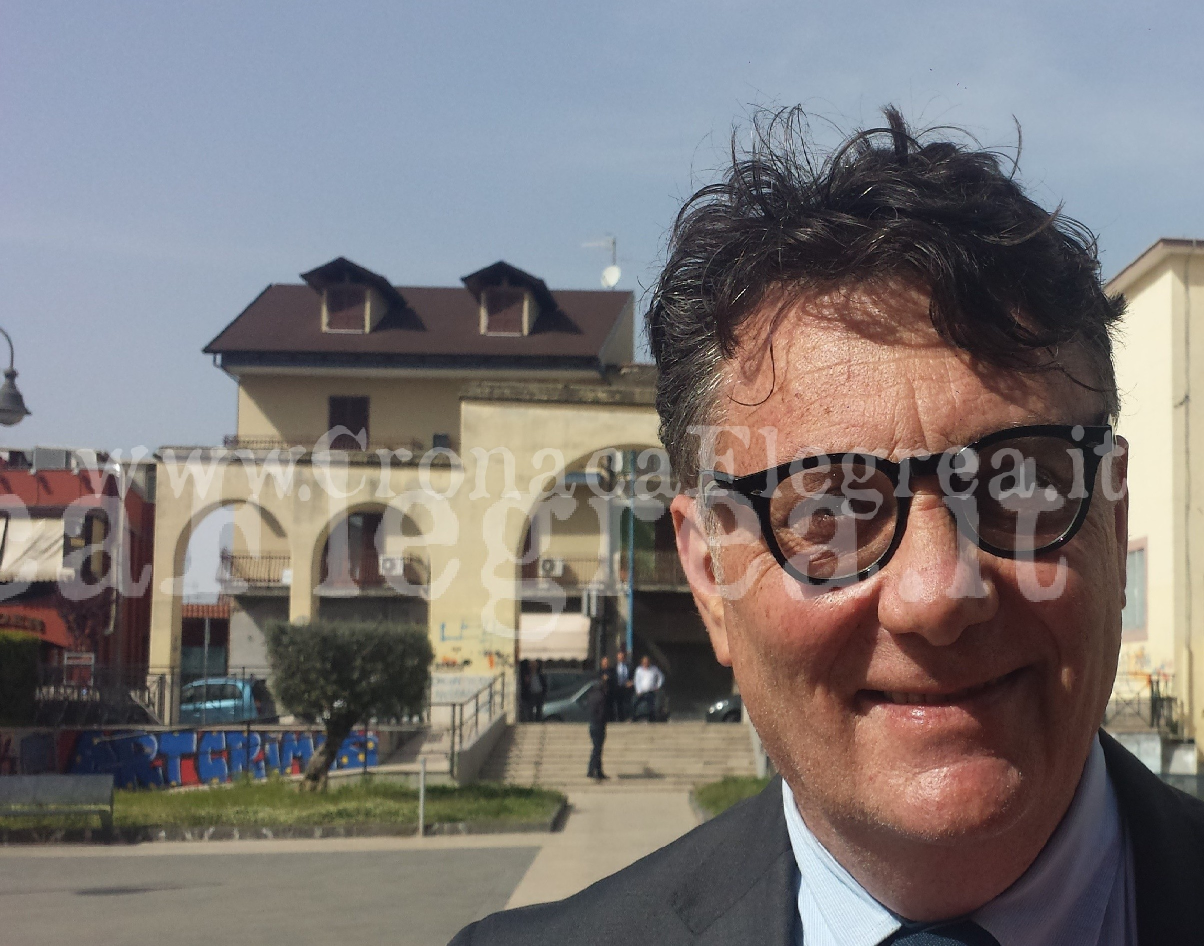L'assesore al Patrimonio Mauro Sacrpitti