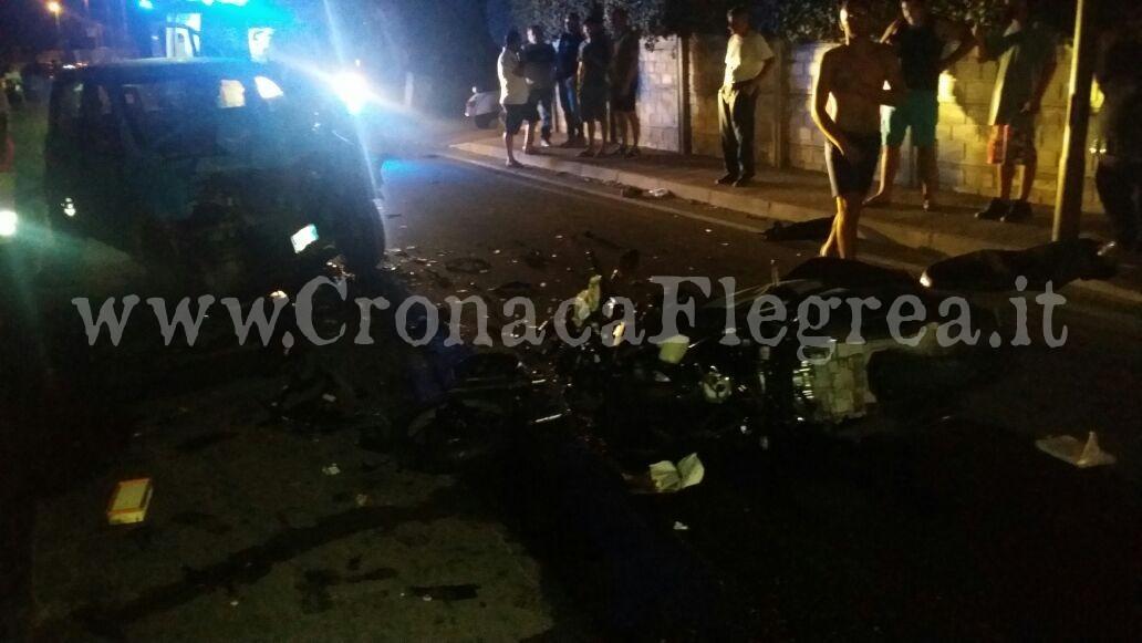 Bacoli, schianto tra moto e auto: muore 39enne di Villaricca